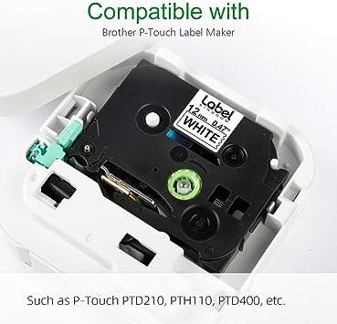 5 Etikettenbänder kompatibel für Brother TZ 121 P-touch 1280 1250VPS 18R 1250