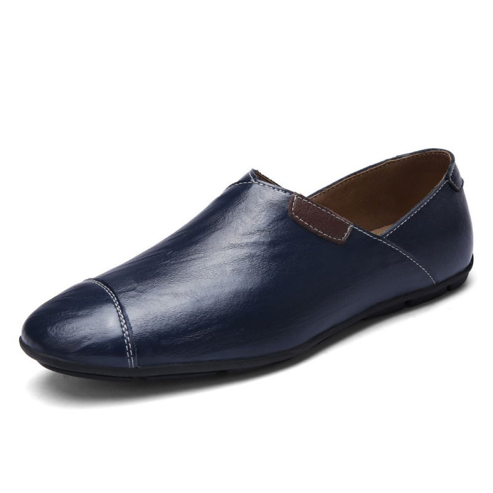 Zapatos De Cuero para Hombres Zapatos De Playa Zapatos Casuales Zapatos Perezosos De Moda 41 EU|Blue