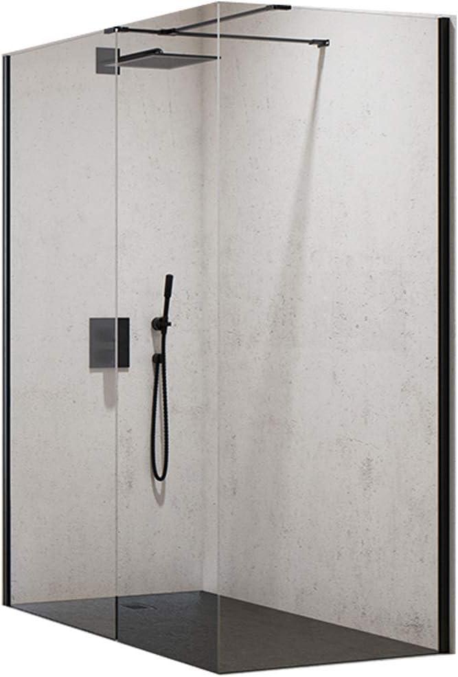 Cabina de ducha Walk de en modo New Black 120 – 140 x 80 – 90 x 200 cm con ducha bañera Mori: Amazon.es: Bricolaje y herramientas