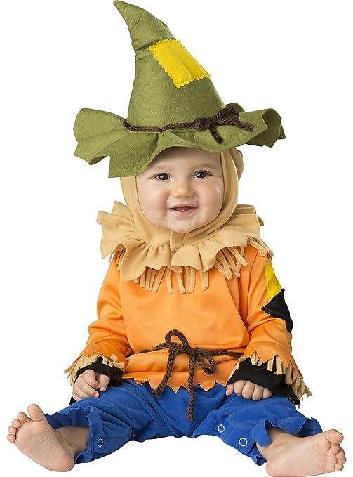 Costume carnevale spaventapasseri bebè travestimento carnevale halloween  cosplay neonato tuta cappello costume bambino tuta intera da d7184406c09
