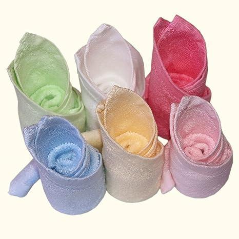 BLUESTAR bebé paños de bambú 100% Natural, suave absorbente toallas para bebé (para