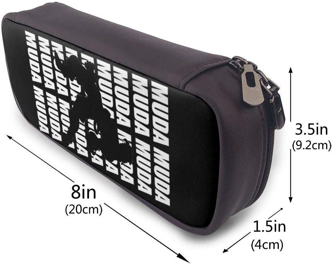 JoJos Bizarre Dio Brando MUDA Estuche Big Capacity Large Storage Pluma Pencil L/ápiz Pouch Stationery Organizer Practical Bag Holder with Zipper