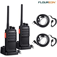 2-Pack. Floureon Rechargeable Two Way Radios Pair (Black)