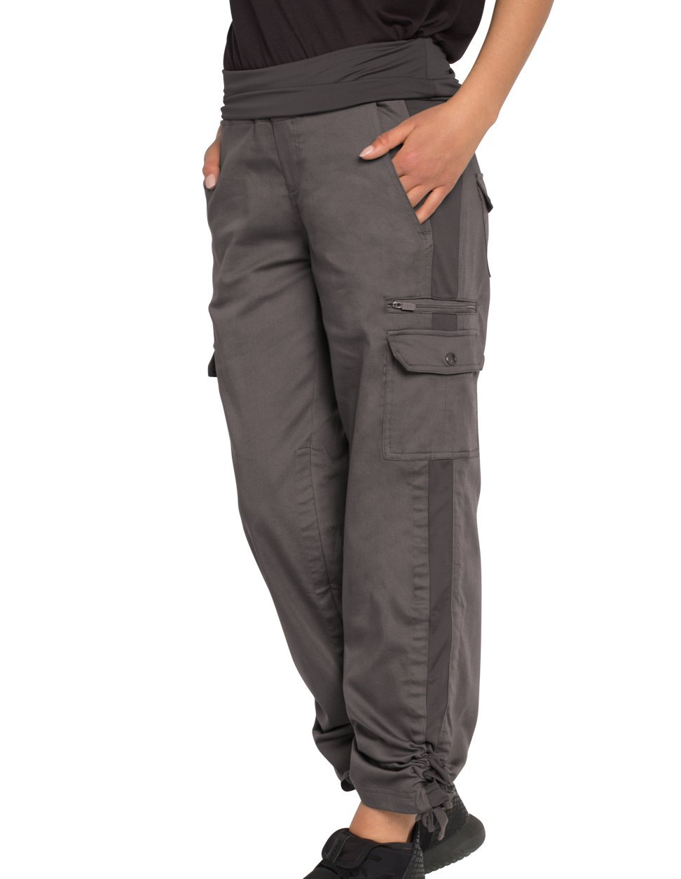 SCOTTeVEST Margaux Cargaux Travel Pants -11 Pockets- Travel Cargo Pants (XXL, Gray)