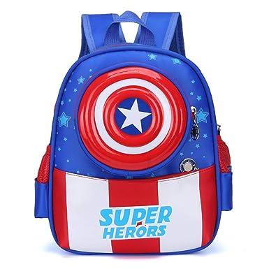 Capitán América Spiderman Mochilas Infantiles Mochila Escolar Para Niños Para Niños De 3-6 Años Para Niños Pequeños,CaptainAmerica-29 * 22 * 10cm: ...