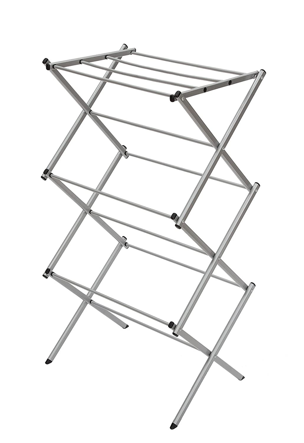 3 tier folding water resistant steel clothes drying rack. Black Bedroom Furniture Sets. Home Design Ideas