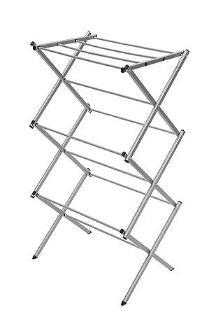 """Storage Maniac 3 Tier Folding Anti Rust Compact Steel Clothes Drying Rack   22.44""""X14.57""""X41.34"""", Silvery by Storage Maniac"""