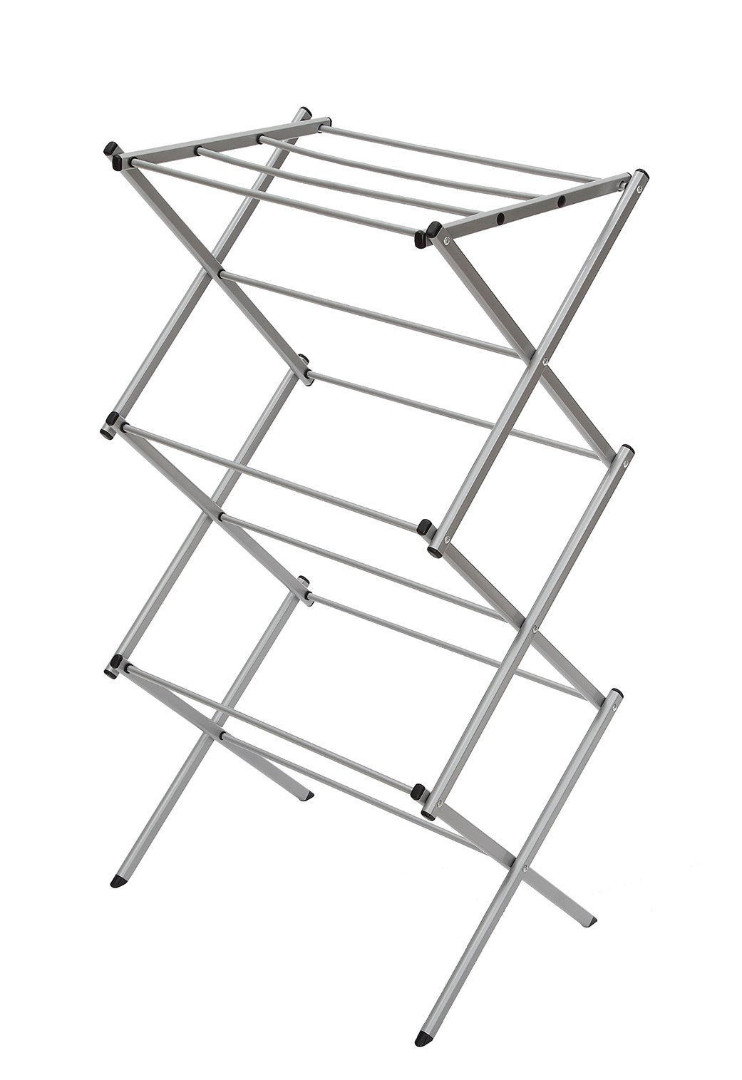 STORAGE MANIAC 3-tier Folding Anti-Rust Compact Steel Clothes Drying Rack - 22.44''x14.57''x41.34''