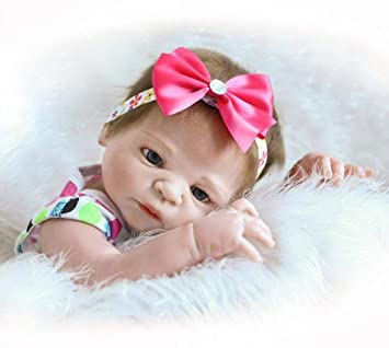 Amazon.es: Reborn Baby Dolls Silicone Full Body Recién Nacido Reborn ...