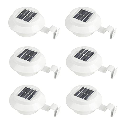6 Pack Deal   Outdoor Solar Gutter LED Lights   White Sun Power Smart Solar  Gutter
