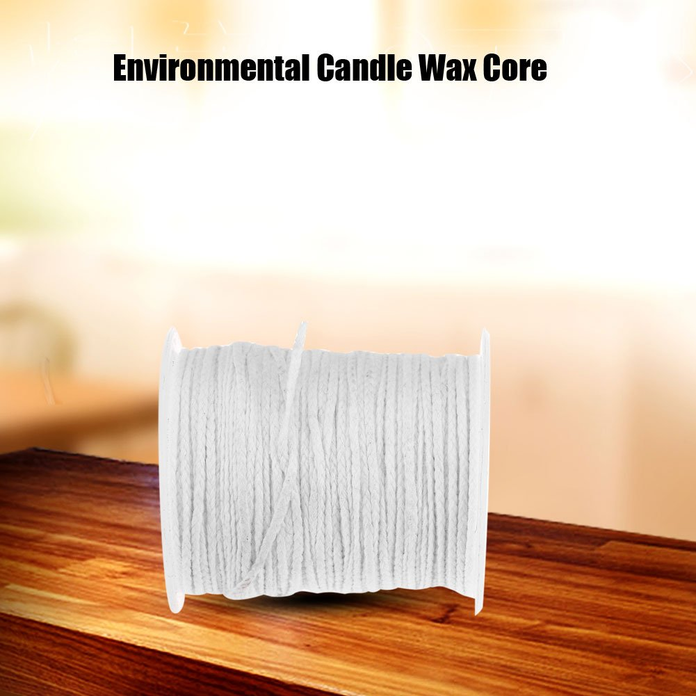 Candle Wick,61m Environmental Spool of Cotton Braid Candle Wick Core for DIY Oil Lamps Centering Device Home Kitchen