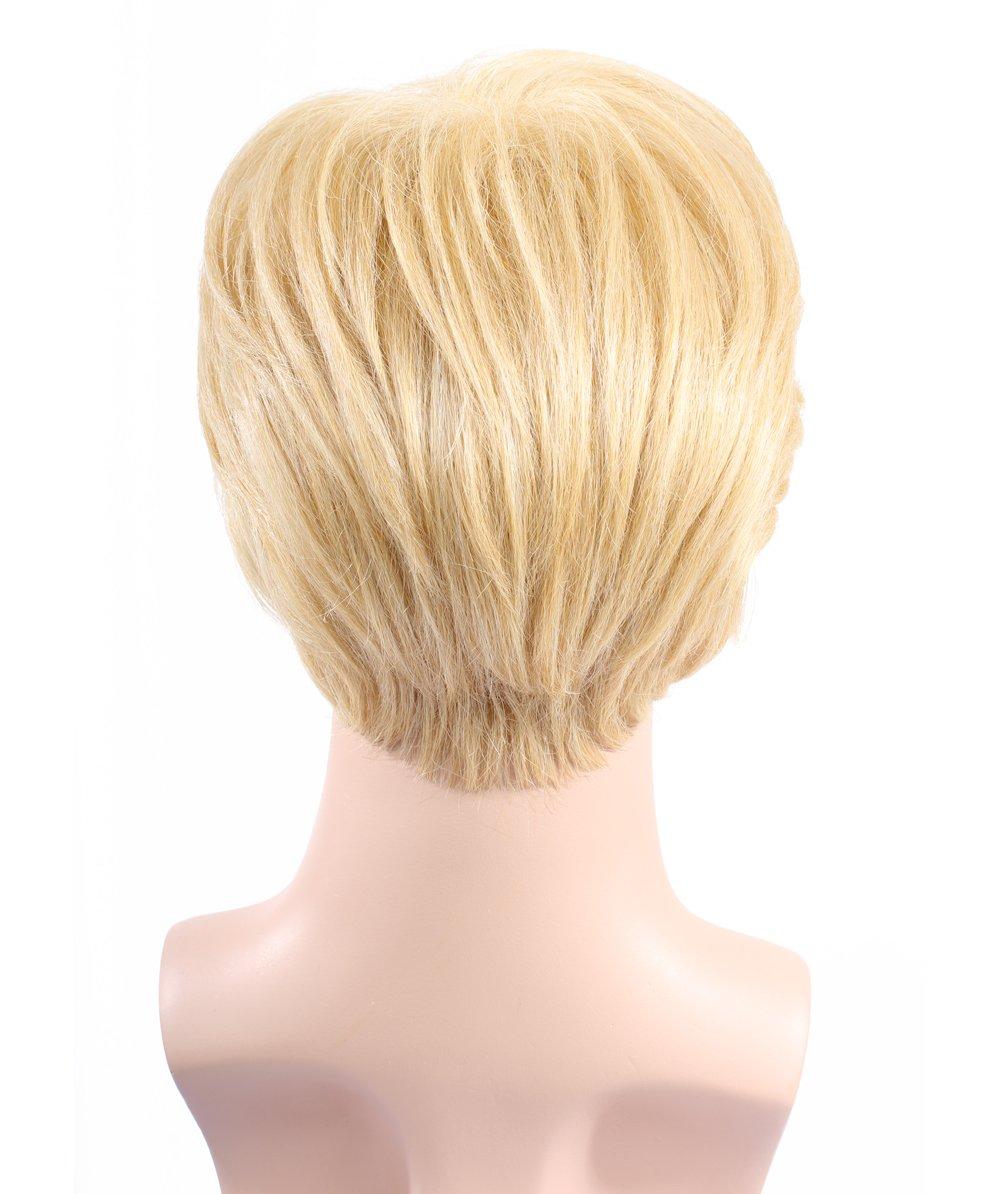 Halloween Party Online Donald Trump II Wig, High Heat Resistant Fiber & Lace Front, Blonde Adult HM-169 by Halloween Party Online (Image #4)