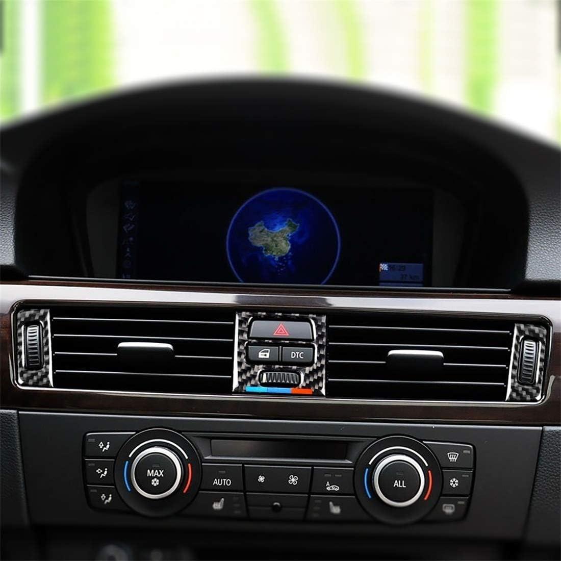 NIHAOA Decal Auto 5 PCS Livello Che corrisponde a Tre Colori in Fibra di Carbonio Auto Uscita Aria Adesivo Decorativo for BMW E90 E93 2005-2012. E92