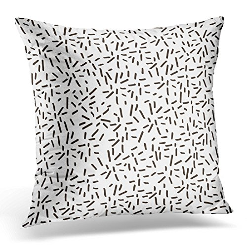 - UPOOS Throw Pillow Cover Drawn Abstract Hand Geometric Sparkle Step Decorative Pillow Case Home Decor Square 18x18 Inches Pillowcase