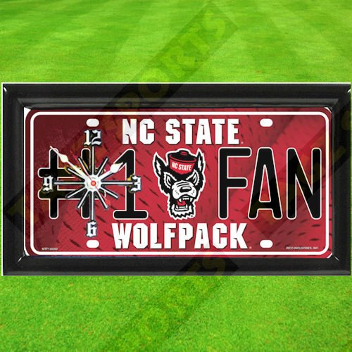 (TAGZ Sports NORTH CAROLINA STATE WOLFPACK NCAA CLOCK)