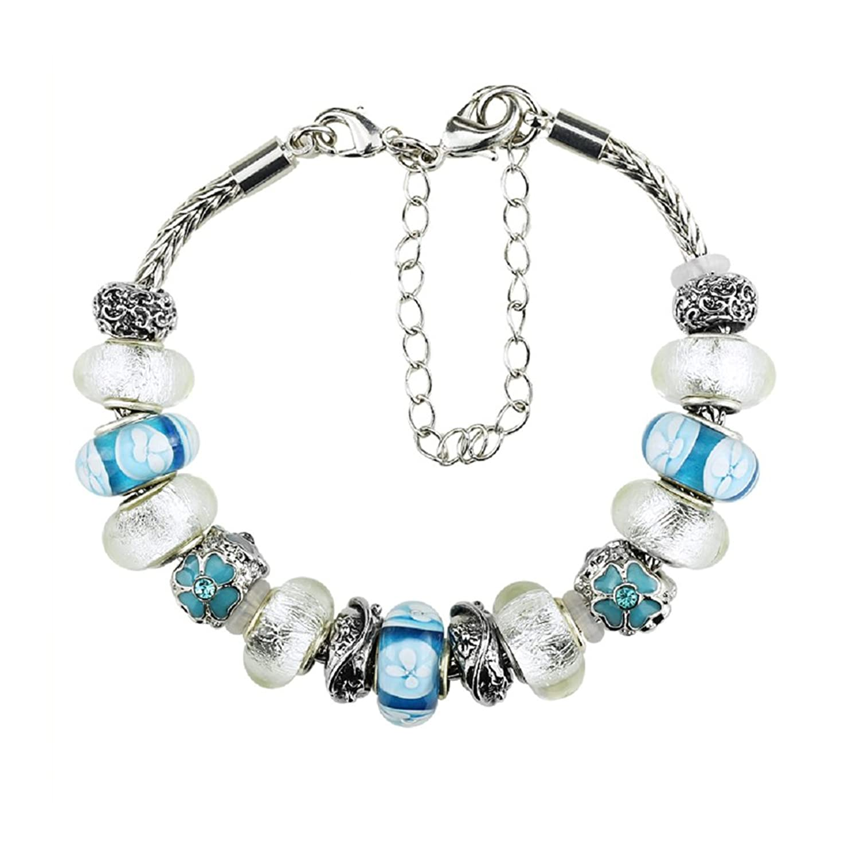 White Birch Charm Bracelet With Charms For Pandora Bracelets Shamrock For  Women And Teenage Girls 19