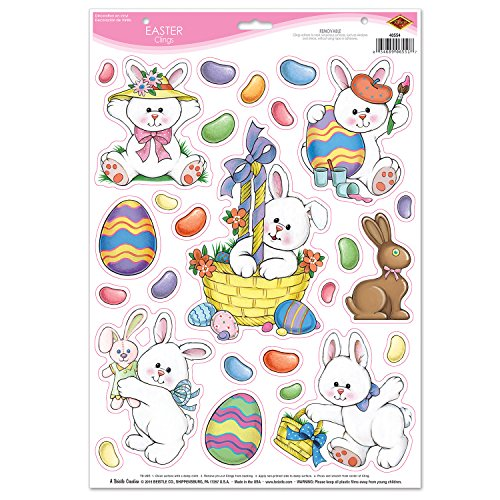 "Beistle Easter Clings, 12"" x 17"", Multicolor"