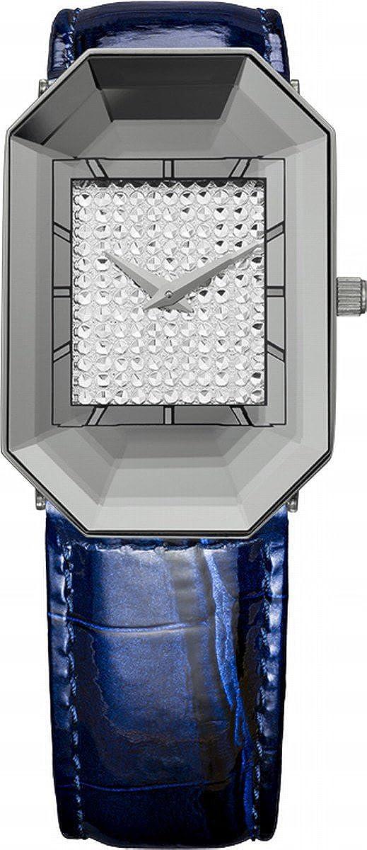 Jowissaレディースj8.010.m Scalaステンレススチールブルー本革ラインストーンインプリントダイヤル腕時計 B00AHKG4FI
