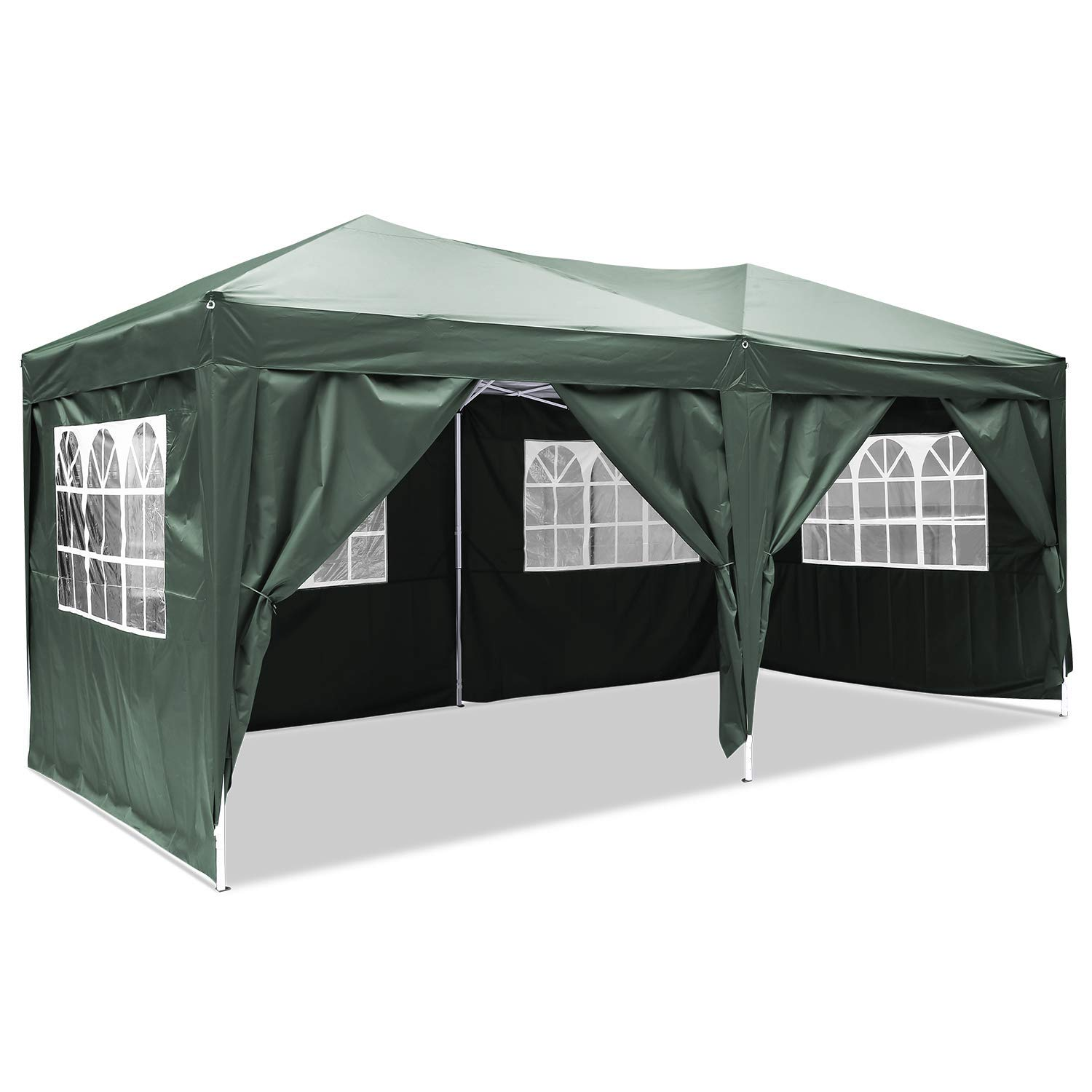 3 x 6m Marquee Tent Pop Up Gazebo Waterproof Tent Awning Marquee with Sides, Outdoor Canopy Awning Garden Party Tent