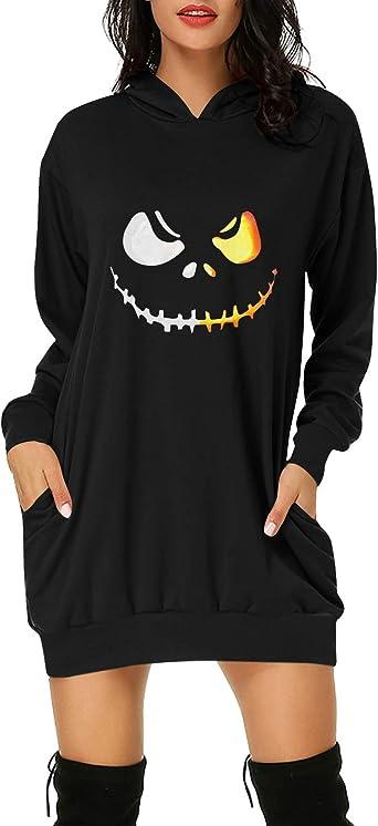 TrendiMax Women/'s Hoodies Sweatshirt Long Sleeve Casual Pockets Jumper Pullover Dress Long Hooded Tops