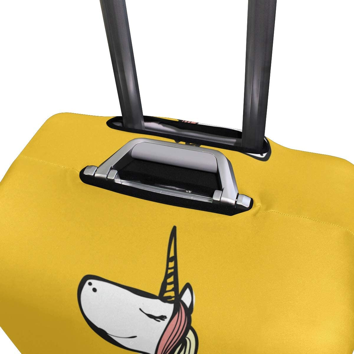 FOLPPLY Yellow Cartoon Unicorn Luggage Cover Baggage Suitcase Travel Protector Fit for 18-32 Inch