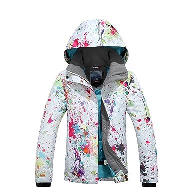 20a8dca673 GSOU Snow Women s Waterproof Windprooof Winter Hooded Jackets Coat Outerwear  Warm Snowboarding Ski Outdoor Insulated