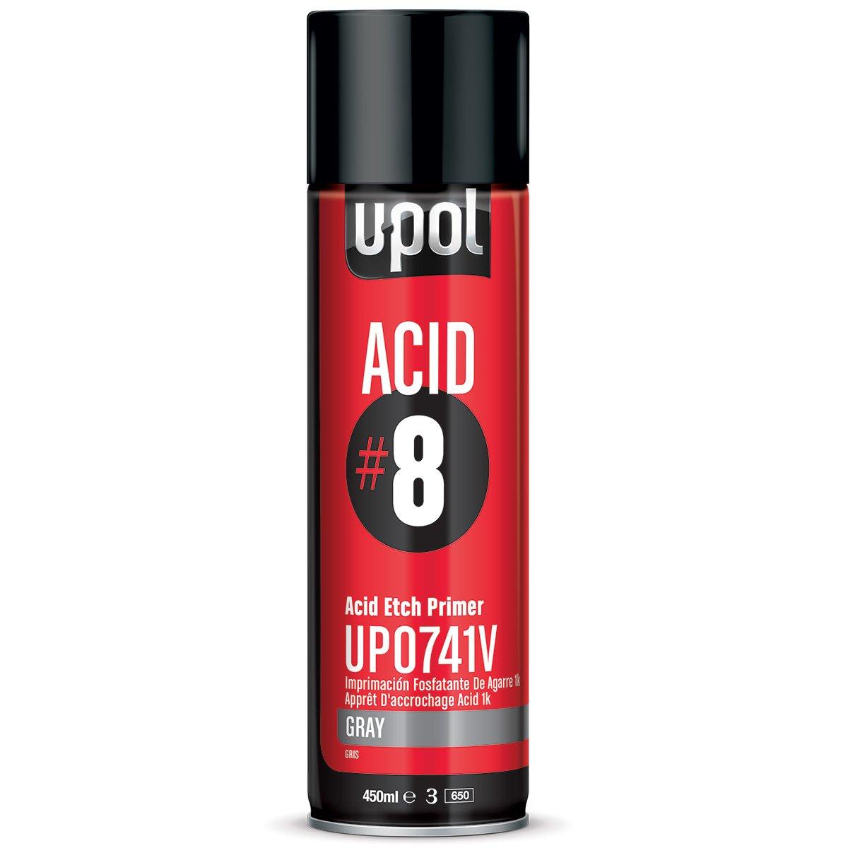 U-Pol Products Gray ACID#8 Etch Primer - 450ml by U-Pol