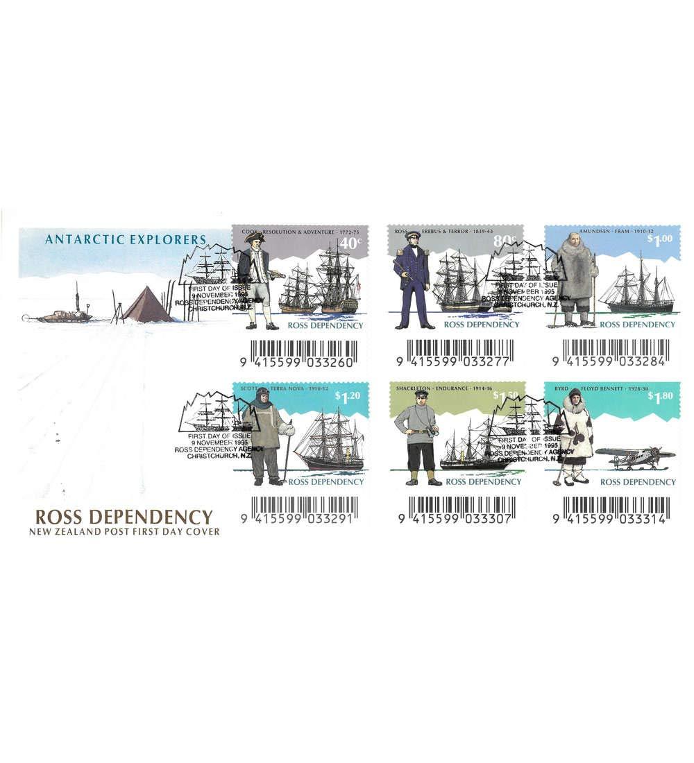 Goldhahn Ross-Gebiet Nr 32-37 FDC Ersttagsbrief Antarktis Schiffe Flugzeug Briefmarken f/ür Sammler