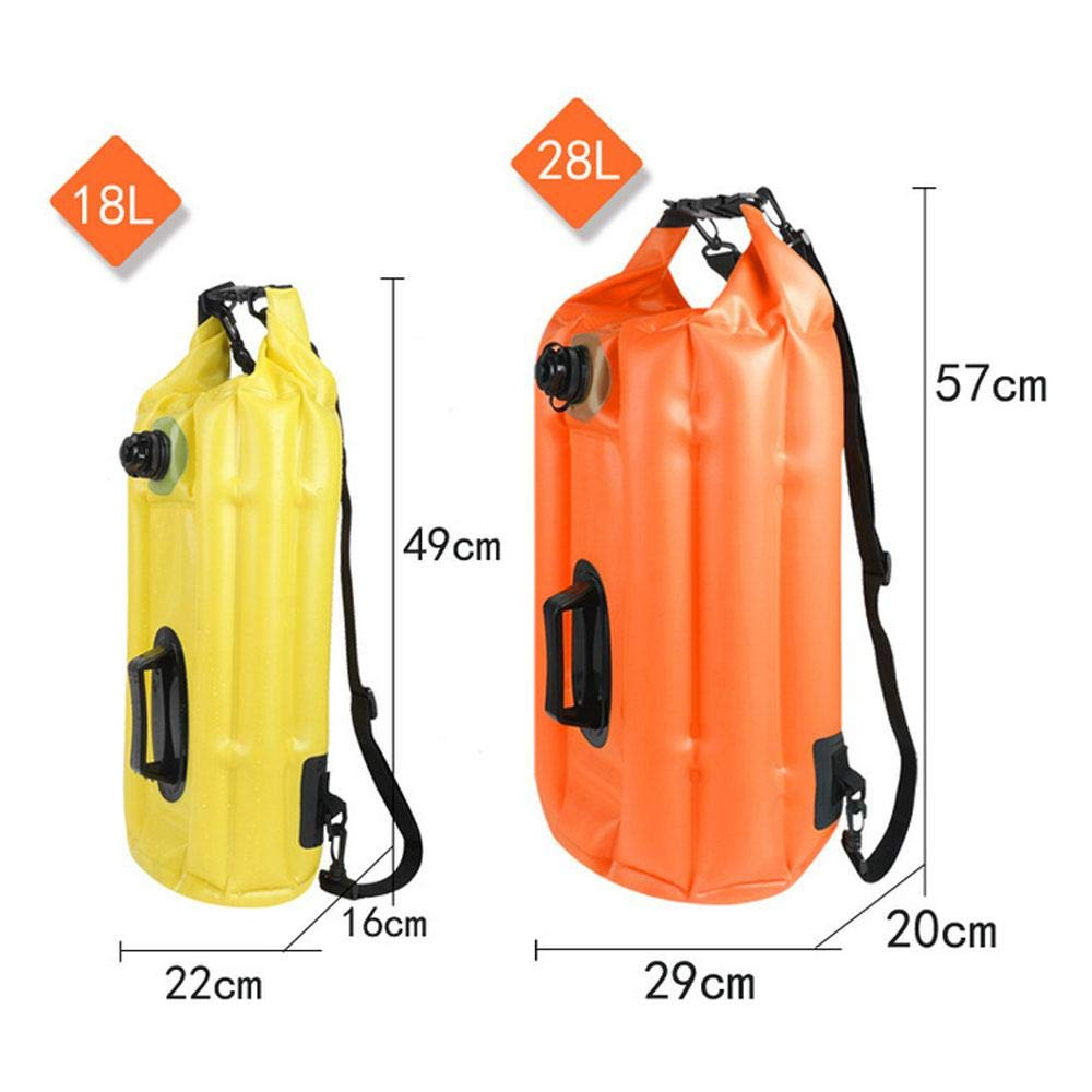 28L High-strength Buoyancy And Multiple Airbag TEEPAO Swim/Buoy Safe Pull/Buoy/for Surfing//Boating//Swimming Outdoor Activities Multifunction Inflatable Dry Bag
