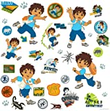 RoomMates RMK1379SCS Go Diego Go! Peel and Stick Wall Decals, Baby & Kids Zone