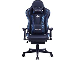 DOXACEF Gaming Chair with Footrest Large Size Ergonomic Adjustable Gamer Chair PC Swivel Chair Massage Computer Racing Style