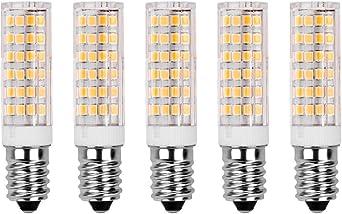 E14 Led Glühlampe 7w 500lm Warm Weiß 3000k Energieklasse A 360 Strahlwinkel Kühlschranklampe Nähmaschinenlampe Wandlampe Tischleuchte Kronleuchter Standard E14 Glühlampe Beleuchtung Leuchtmittel