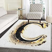 Letter C Area Silky Smooth Rugs Letter C Flaming Backdrop Combusted Alphabet Symbol Paper Effect Writing Floor Mat Pattern 2x3 Tan Black Yellow