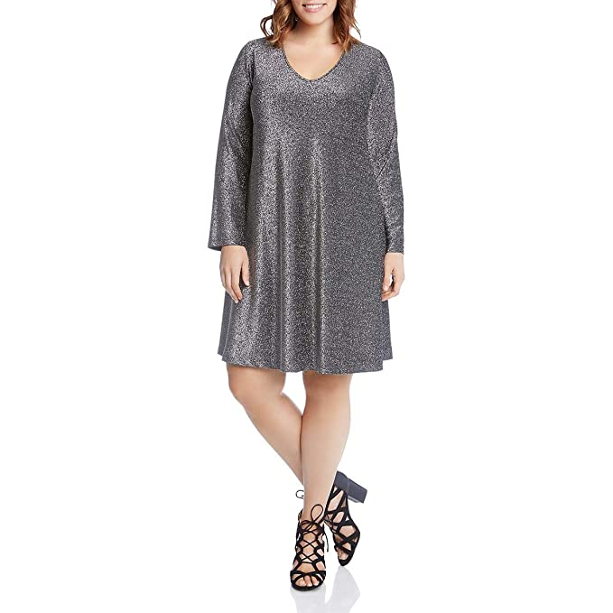 Karen Kane Women\'s Plus Size Sparkle Taylor Dress at Amazon ...