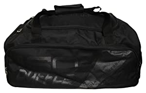 Meal Prep Duffle Bag 4 Meal ISODUFFLE Gym Bag Meal Prep Management Insulated Lunch Bag with 8 Stackable Meal Prep Containers, 2 ISOBRICK Ice Packs and 1 Shoulder Strap - MADE IN USA (Blackout)