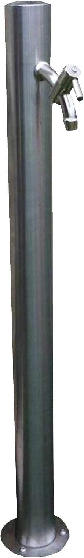 Wasserhahn /& Edelstahlschrauben zur Bodenbefestigung rund Wassers/äule Tavolazza rot von Bonfante inkl 90 cm H/öhe Wasserhahn