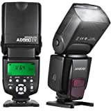 Andoer AD560 IV 2.4G Wireless On-camera Slave Speedlite Flash Light GN50 con LCD Display Per Canon Nikon Olympus Pentax e Sony A7/ A7 II/ A7S/ A7R/ A7S II DSLR