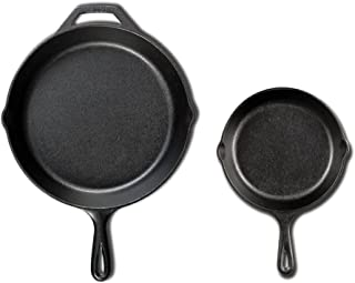 product image for Lodge Seasoned Cast Iron Cookware Set. 2 Piece Skillet Set. (10.25 inches and 6.5 inches)