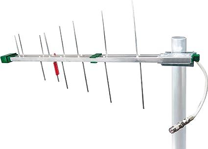 SCHWAIGER -20334- DVBT-2 Antena exterior con amplificador | máxima fuerza de señal | integ. Filtro de corte LTE | para la recepción de DVB-T | ...
