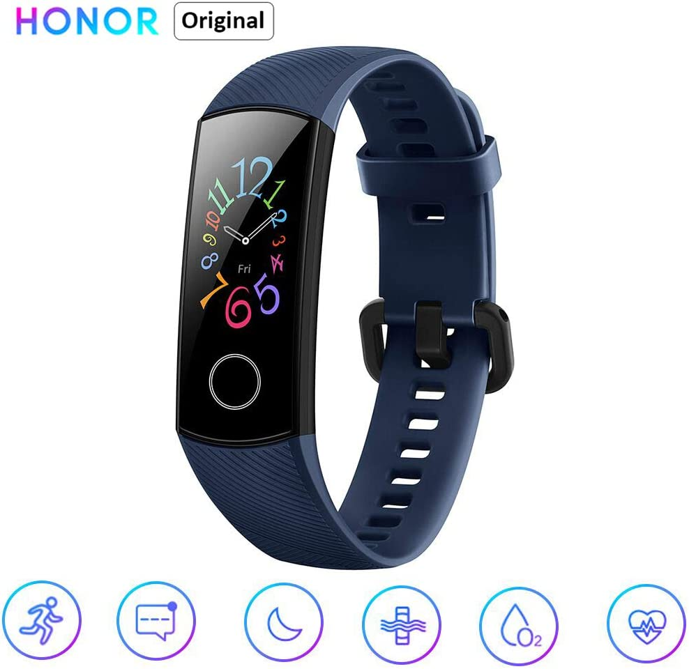 Honor Band 5 Reloj Inteligente 0.95 Pulgadas AMOLED Bluetooth 4.2 5ATM Impermeable (Azul)