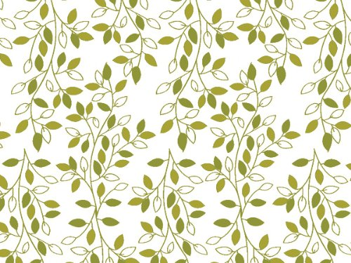 Printed Tissue Paper for Gift Wrapping with Design (Nature Inspired Green & Ivory Leafy Vine) - Decorative Tissue Paper, 24 Large Sheets (20x30) (Patterned Tissue Paper)