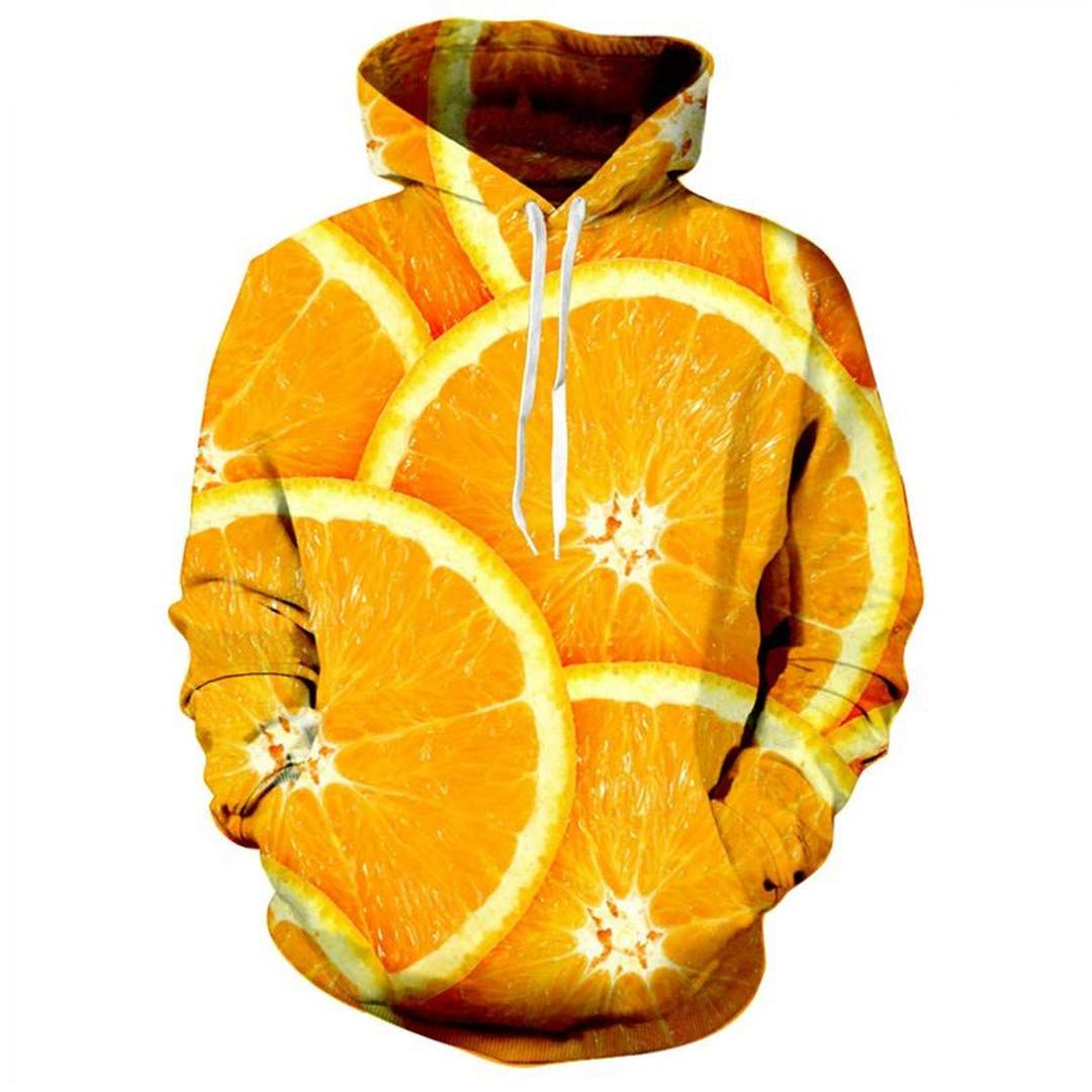 JSR-Hoodie Fruta Las Naranjas Imprimir Escudo Divertido Sudaderas ...