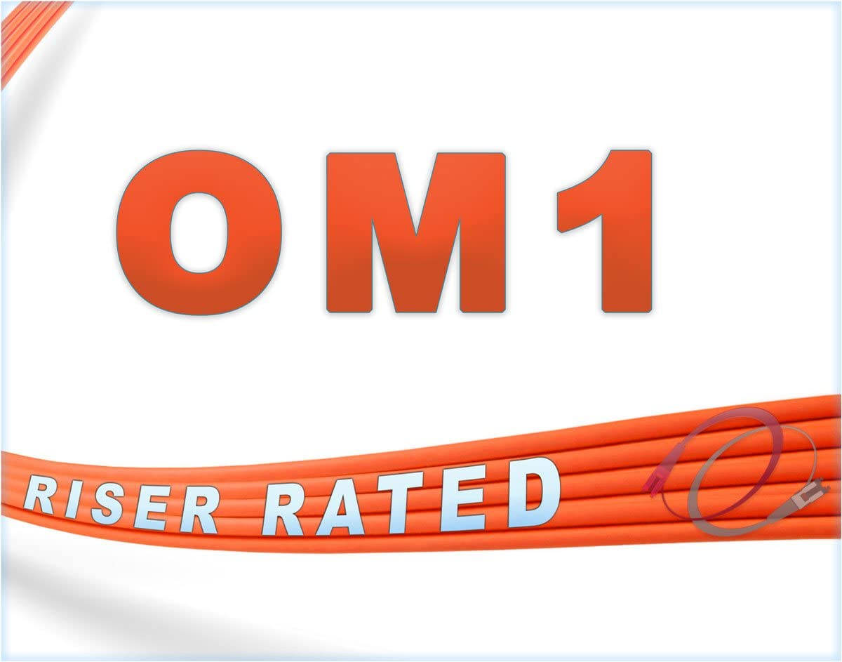 1Gb Duplex 62.5//125 ST to ST Multimode Jumper 30 Meter 98.42ft 1gb 10gb mmf stupc sfp 1gbase mm dx PVC ofnr st-st FiberCablesDirect | Length Options: 0.5M-300M 30M OM1 ST ST Fiber Patch Cable
