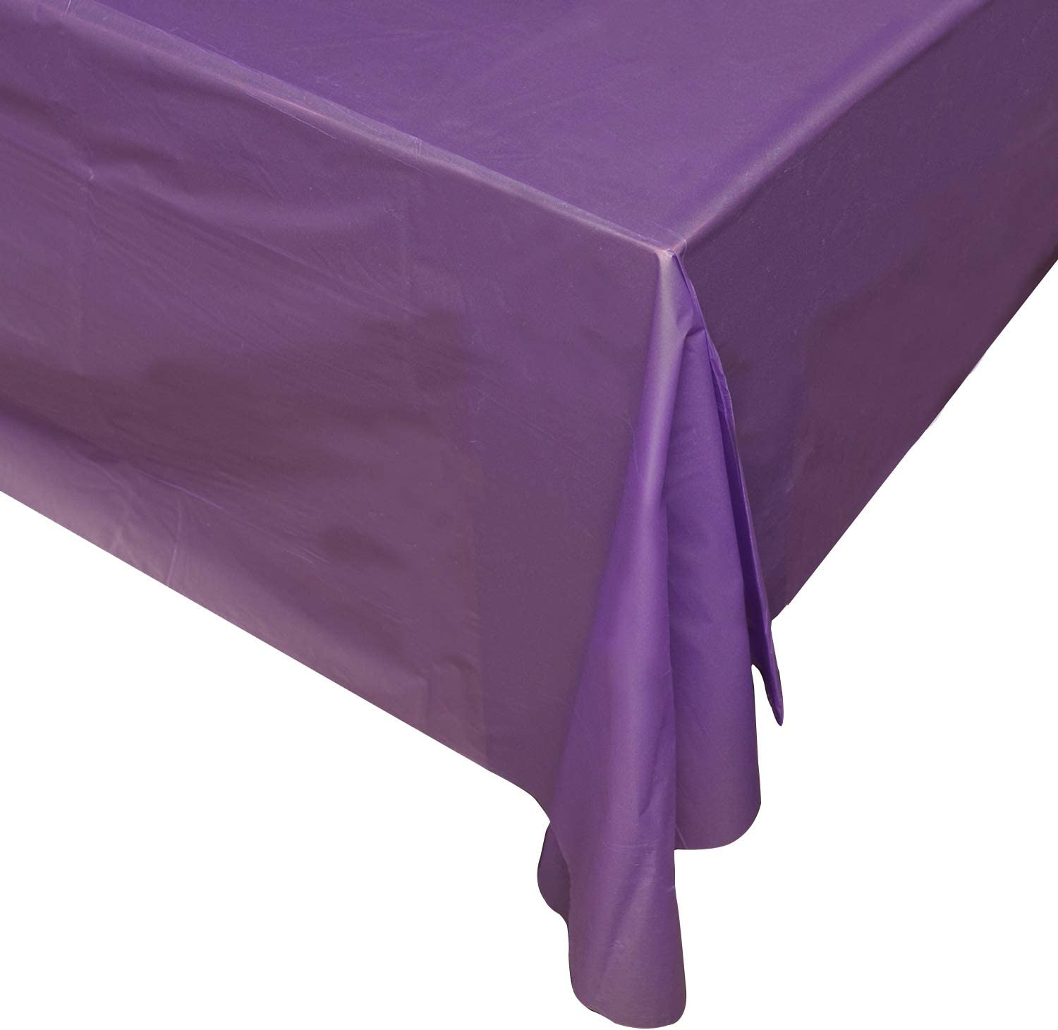 Purple 6 Pack Premium Disposable Plastic Tablecloth 54 inch. X 108 inch. Rectangle Table Cover by ARW1 LTD. tablecloths Rectangle Tables Plastic Disposable Rectangle Tablecloth Plastic