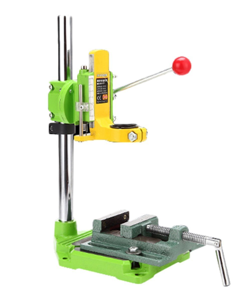 Floor Drill Press stand with cast iron vise/Rotary Tool Workstation Drill Press Work Station/Stand Table for Drill Workbench Repair,Drill Press Table,Table Top Drill Press90° Rotating Fixed Frame by AMYAMY