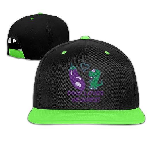 3dbf79961b0f3 Toddler Hip Hop Baseball Cap and Hat Boys Girl Dino Loves Veggies Eggplant
