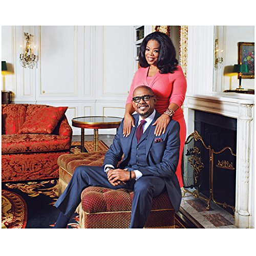 (Lee Daniels' The Butler 8x10 Photo Forest Whitaker Blue Suit & Oprah Winfrey Pink Dress in Front of Fireplace kn)