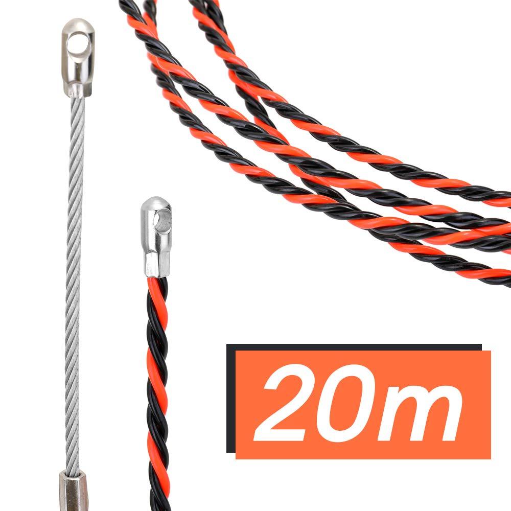 Alambre Threading Dispositivo Guia Pasacables Kit de Enhebrado de Cables Cable El/éctrico con Conectores de Cable de Acero Enhebrador de Alambre Electrico KKmoon Enhebrador de alambre electrico