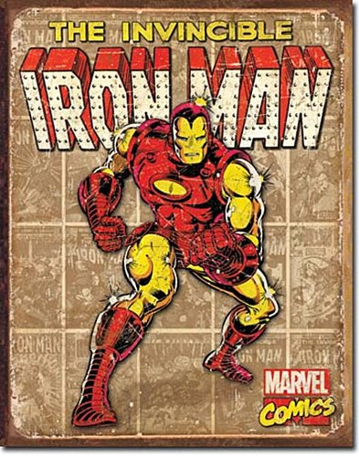 Iron Man - Retro Panels Tin Sign 13 x 16in