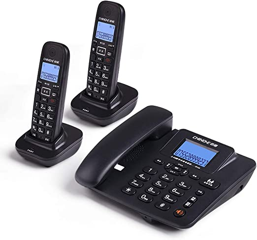 ZXL Teléfono inalámbrico Digital con Pantalla LCD con contestador automático Retro Vintage Antique Style Home Decor Desk Phone Phone, Paquete de 3 (Color: Negro): Amazon.es: Hogar
